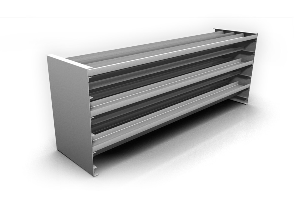 Stainless steel heating and distributing tray assembly